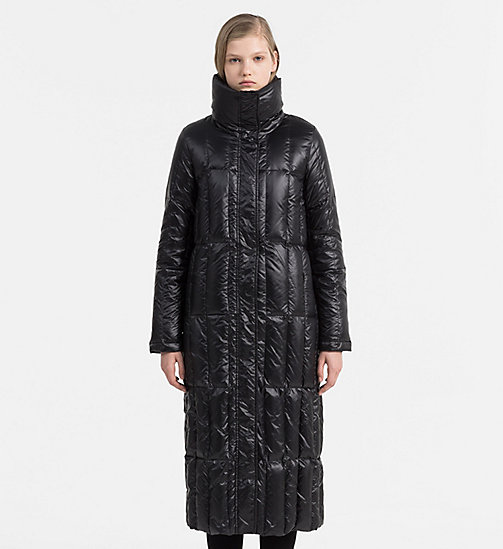 Quilted Down Coat - CK BLACK - CALVIN KLEIN JEANS OUTERWEAR - main image