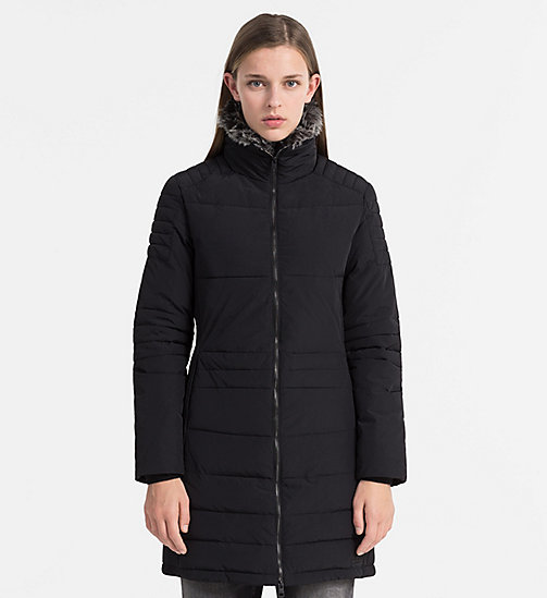 CALVIN KLEIN JEANS Fitted Padded Coat - CK BLACK - CALVIN KLEIN JEANS CLOTHES - main image