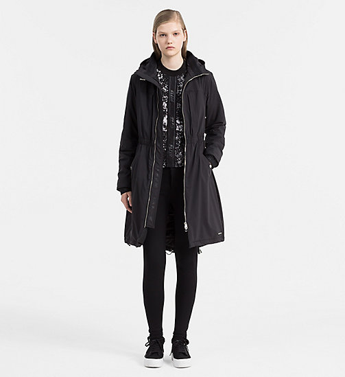 Hooded Parka Coat - CK BLACK - CALVIN KLEIN JEANS OUTERWEAR - detail image 1