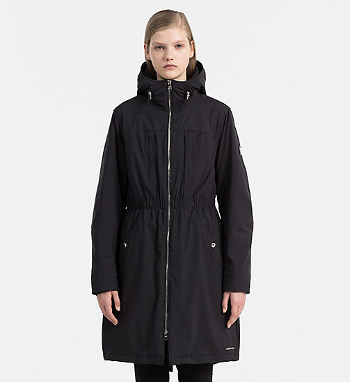 Hooded Parka Coat - CK BLACK - CALVIN KLEIN JEANS OUTERWEAR - main image
