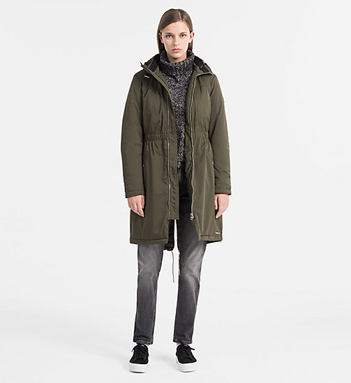 CALVIN KLEIN JEANS Hooded Parka Coat - GRAPE LEAF - CALVIN KLEIN JEANS NEW ARRIVALS - detail image 1