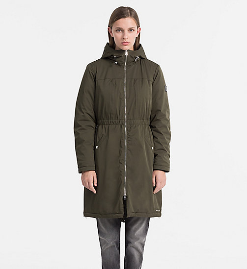 CALVIN KLEIN JEANS Hooded Parka Coat - GRAPE LEAF - CALVIN KLEIN JEANS COLD COMFORTS - main image