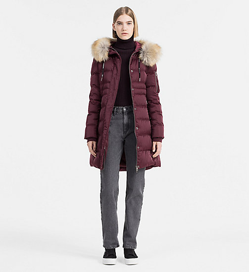 CALVIN KLEIN JEANS Hooded Down Coat - FIG - CALVIN KLEIN JEANS COATS - detail image 1