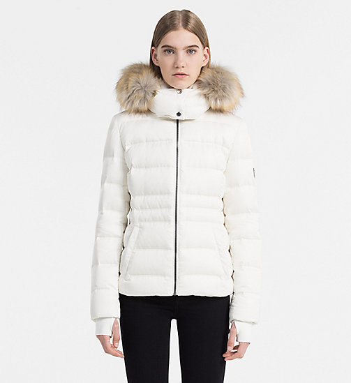 Hooded Down Jacket - EGRET - CALVIN KLEIN JEANS OUTERWEAR - main image