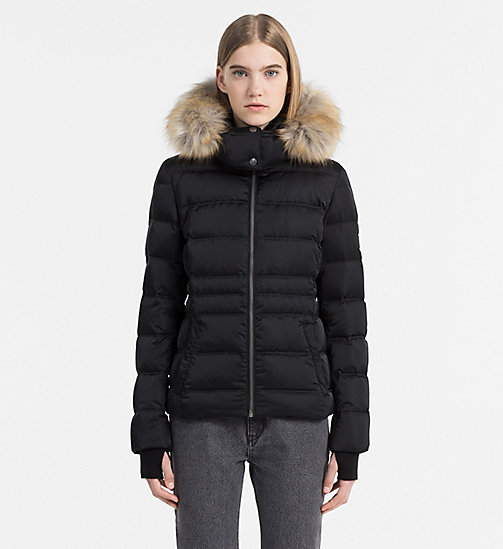Hooded Down Jacket - CK BLACK - CALVIN KLEIN JEANS OUTERWEAR - main image