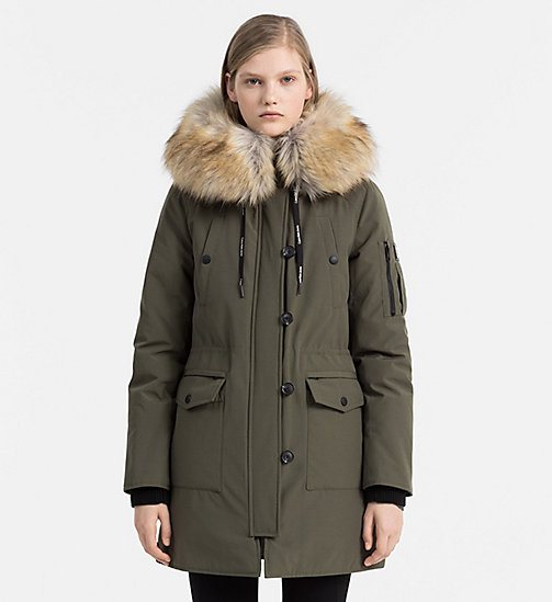 CALVIN KLEIN JEANS Down Parka Coat - GRAPE LEAF - CALVIN KLEIN JEANS COLD COMFORTS - main image