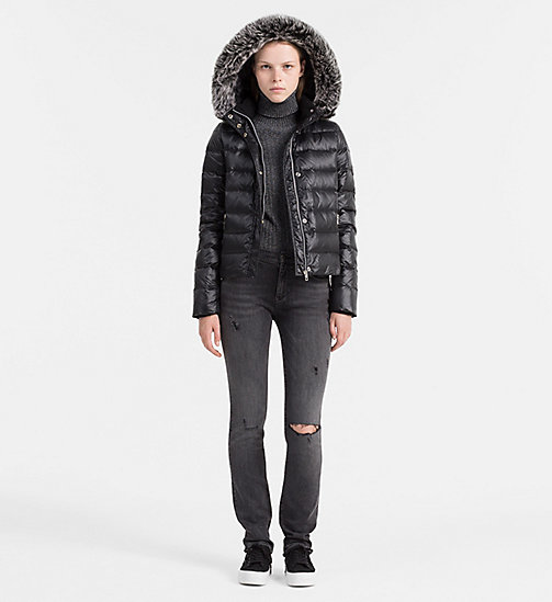 CALVIN KLEIN JEANS Hooded Down Jacket - CK BLACK - CALVIN KLEIN JEANS JACKETS - detail image 1