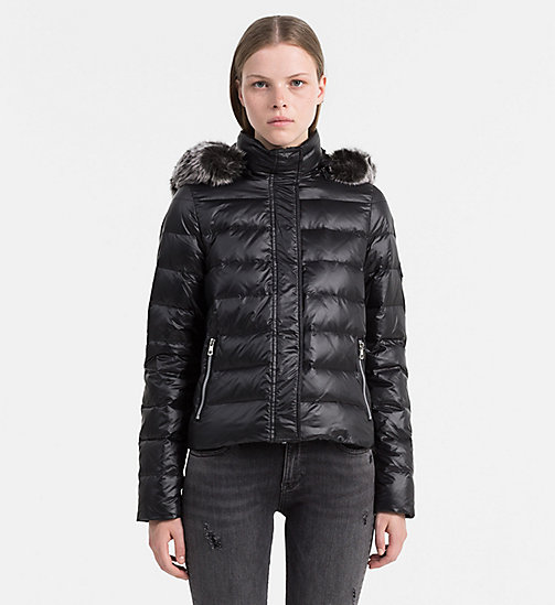 CALVIN KLEIN JEANS Hooded Down Jacket - CK BLACK - CALVIN KLEIN JEANS JACKETS - main image