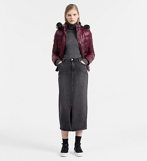 Hooded Down Jacket - FIG - CALVIN KLEIN JEANS OUTERWEAR - detail image 1