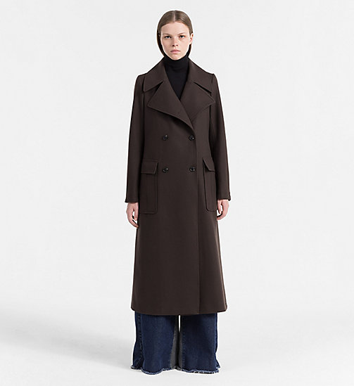 CALVIN KLEIN JEANS Wool Cashmere Military Coat - GRAPE LEAF - CALVIN KLEIN JEANS COLD COMFORTS - main image