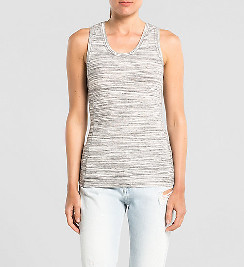CKJEANS Tank Top - LIGHT GREY HEATHER BC04 - VOL39 - CK JEANS CHAOS FUSION WOMEN - main image