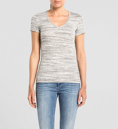 T-shirt in jersey mélange - LIGHT GREY HEATHER BC04 - VOL39 - CK JEANS  - immagine principale