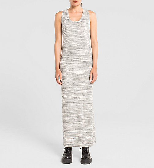 CKJEANS Jersey Maxi Dress - LIGHT GREY HEATHER BC04 - VOL39 - CK JEANS CHAOS FUSION WOMEN - main image
