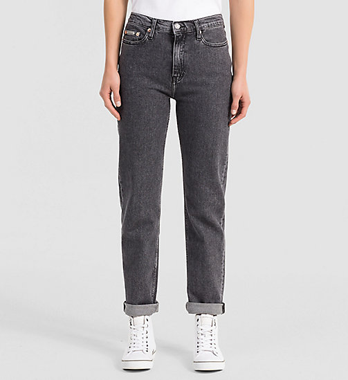 CALVIN KLEIN JEANS High-Rise Straight-Ankle-Jeans - VINTAGE BLACK - CALVIN KLEIN JEANS STRAIGHT JEANS - main image