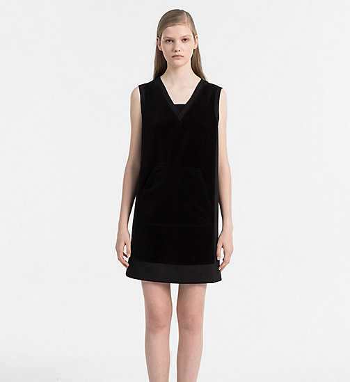 CALVIN KLEIN JEANS Velvet Dress - CK BLACK - CALVIN KLEIN JEANS CLOTHES - main image