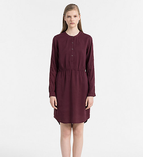 CALVIN KLEIN JEANS Shirt Dress - FIG - CALVIN KLEIN JEANS DRESSES - main image