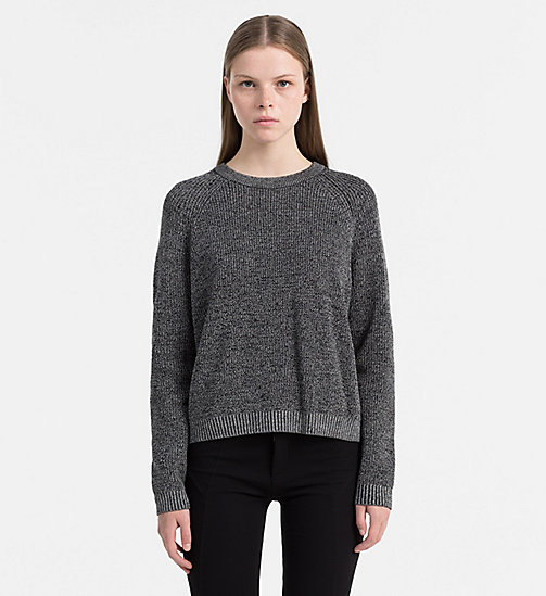 CALVIN KLEIN JEANS Mouliné Wool Blend Sweater - CK BLACK - CALVIN KLEIN JEANS JUMPERS - main image