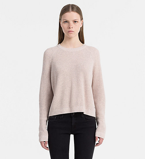 CALVIN KLEIN JEANS Mouliné Wool Blend Sweater - PEACHY KEEN - CALVIN KLEIN JEANS JUMPERS - main image