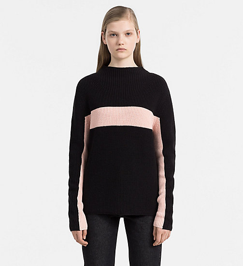 CALVIN KLEIN JEANS Cotton Cashmere Sweater - CK BLACK / PEACHY KEEN - CALVIN KLEIN JEANS NEW ARRIVALS - main image
