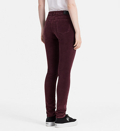 Slim Velvet Trousers - FIG - CALVIN KLEIN JEANS TROUSERS - detail image 1
