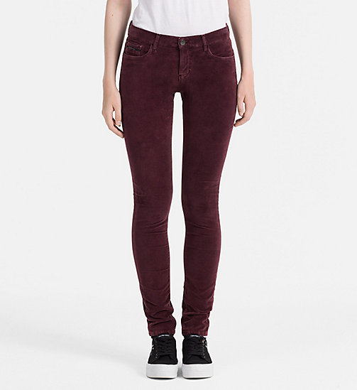 Slim Velvet Trousers - FIG - CALVIN KLEIN JEANS TROUSERS - main image
