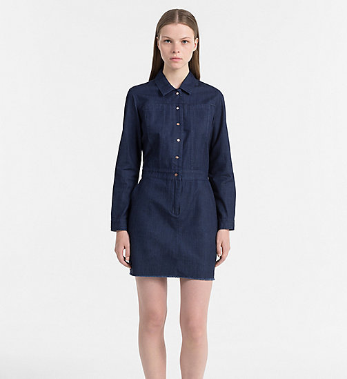CALVIN KLEIN JEANS Denim Shirt Dress - DARK INDIGO - CALVIN KLEIN JEANS DRESSES - main image