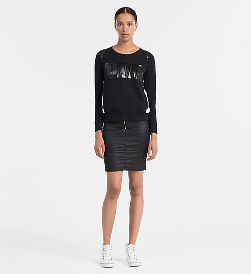 CKCOLLECTION Logo-Sweatshirt - CK BLACK - CK JEANS  - main image 1