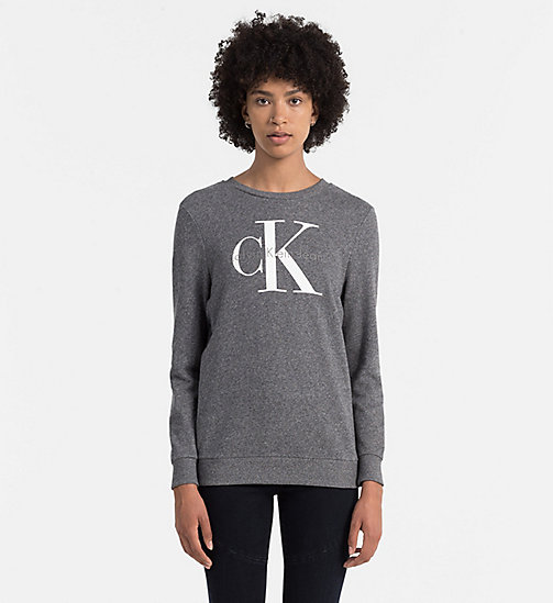 CKCOLLECTION Logo-Sweatshirt - BLACK HEATHER - CK JEANS  - main image