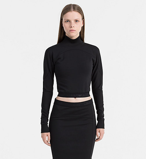 Cropped Turtleneck Top - CK BLACK - CALVIN KLEIN JEANS UNDERWEAR - main image