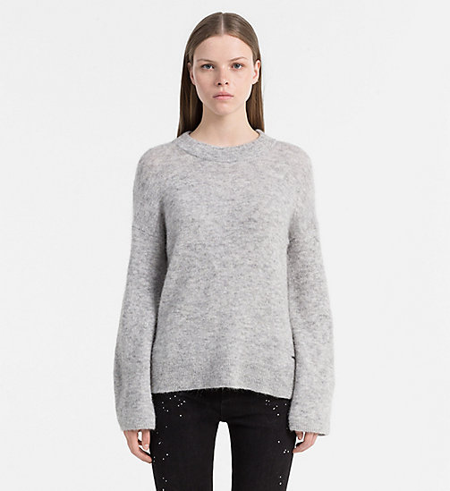 CALVIN KLEIN JEANS Trui van alpacawol - LIGHT GREY HEATHER - CALVIN KLEIN JEANS TRUIEN - main image
