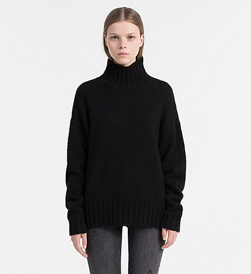 CALVIN KLEIN JEANS Mohair Blend Turtleneck Sweater - CK BLACK - CALVIN KLEIN JEANS JUMPERS - main image