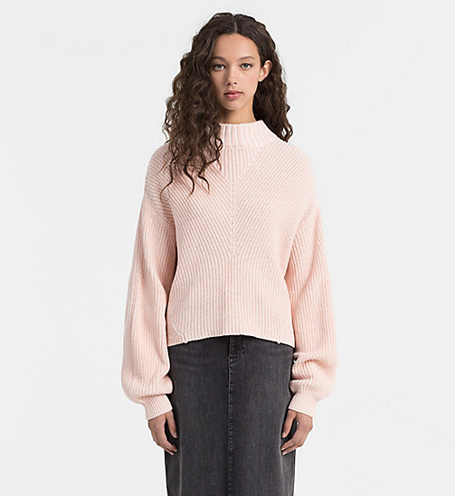 CALVIN KLEIN JEANS Cotton Cashmere Sweater - EGRET - CALVIN KLEIN JEANS JUMPERS - main image