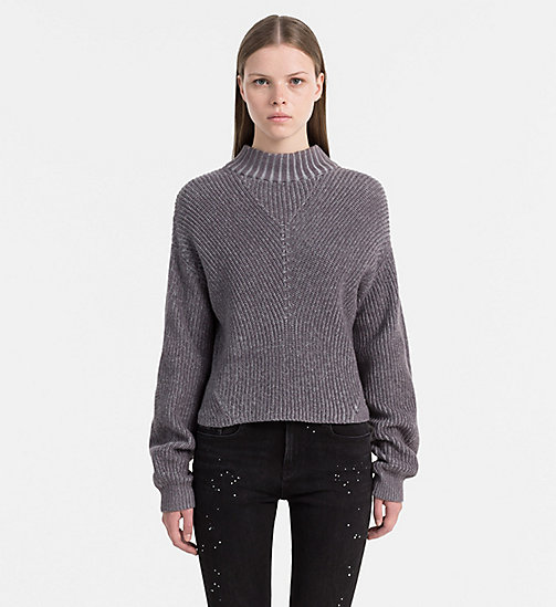 Baumwoll-Kaschmir-Sweater - LIGHT GREY HEATHER - CALVIN KLEIN JEANS PULLOVER - main image