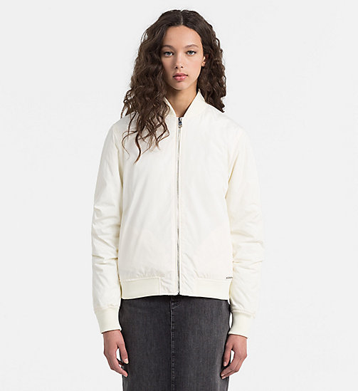 Padded Bomber Jacket - EGRET - CALVIN KLEIN JEANS OUTERWEAR - main image