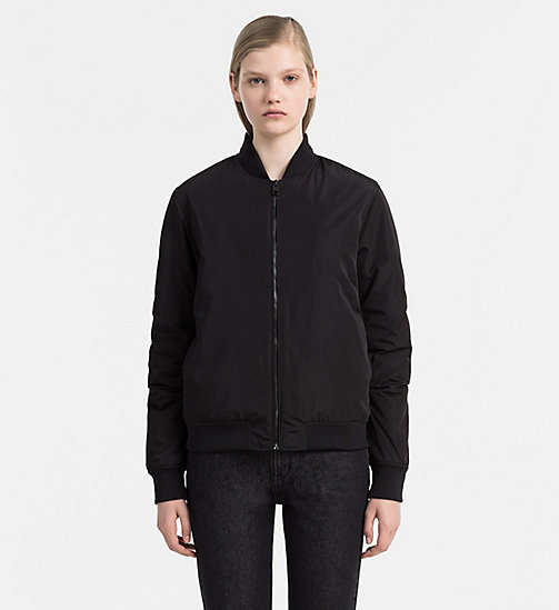 CALVIN KLEIN JEANS Padded Bomber Jacket - CK BLACK - CALVIN KLEIN JEANS JACKETS - main image