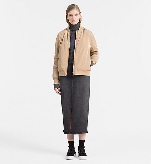 Padded Bomber Jacket - TANNIN - CALVIN KLEIN JEANS OUTERWEAR - detail image 1