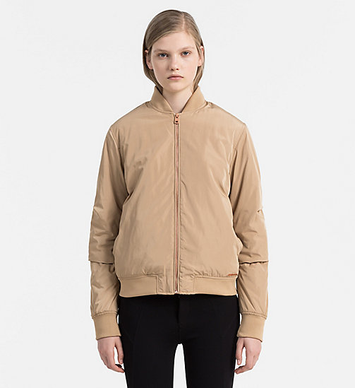 Padded Bomber Jacket - TANNIN - CALVIN KLEIN JEANS OUTERWEAR - main image
