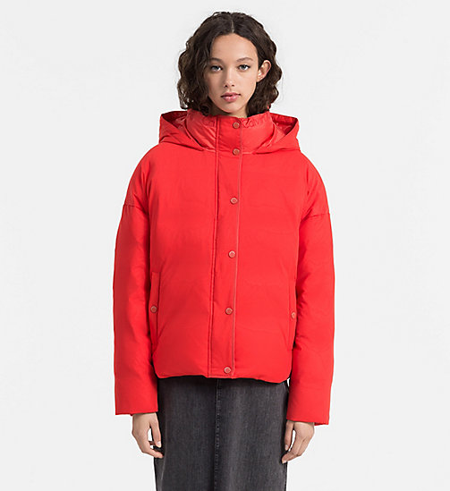 Down Mesh Puffer Jacket - FLAME SCARLET - CALVIN KLEIN JEANS OUTERWEAR - main image