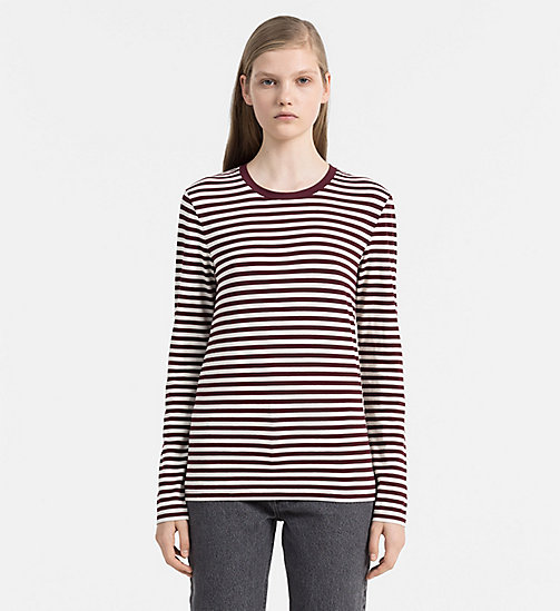 CALVINKLEIN Striped Top - FIG / EGRET - CALVIN KLEIN JEANS CLOTHING - main image
