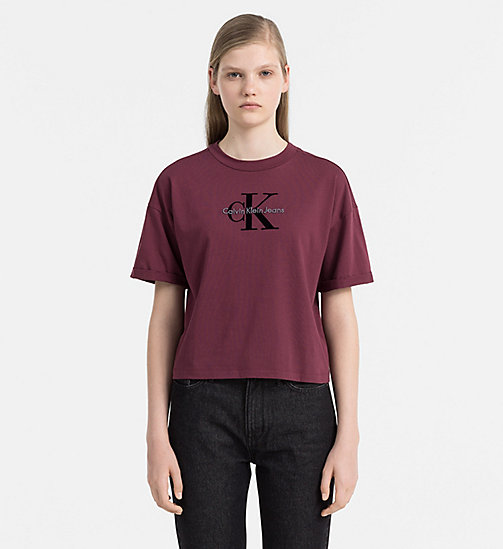 CALVIN KLEIN JEANS Cropped Logo T-shirt - FIG - CALVIN KLEIN JEANS CLOTHES - main image
