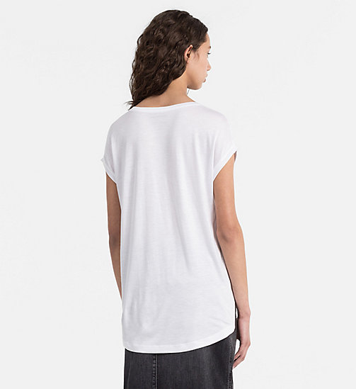 CALVIN KLEIN JEANS Material Mix Logo T-shirt - BRIGHT WHITE - CALVIN KLEIN JEANS NEW ARRIVALS - detail image 1
