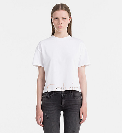 CALVIN KLEIN JEANS Cropped Logo T-shirt - BRIGHT WHITE - CALVIN KLEIN JEANS CLOTHES - main image