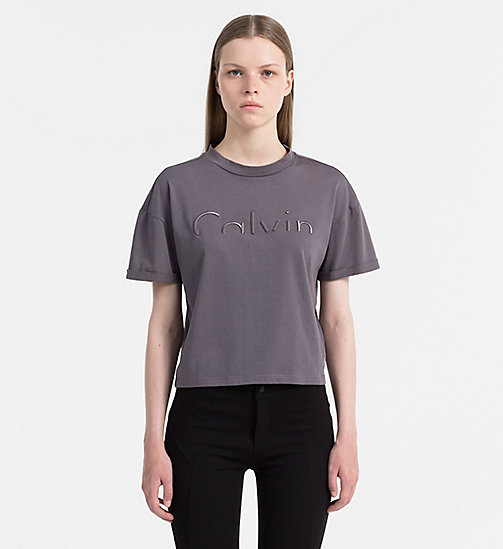 CALVIN KLEIN JEANS Cropped Logo T-shirt - RABBIT - CALVIN KLEIN JEANS 24/7 STAPLES - main image