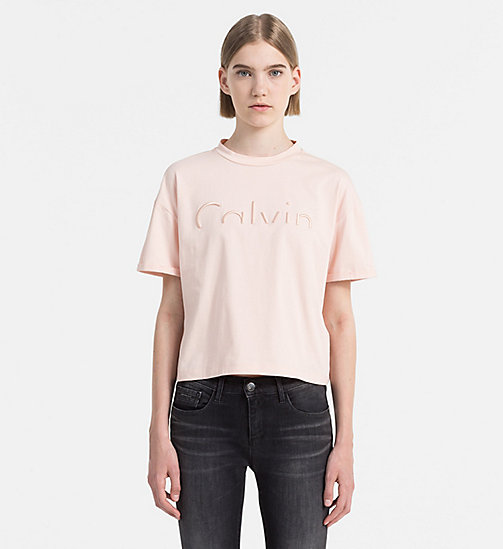 CALVIN KLEIN JEANS Cropped T-shirt met logo - PEACHY KEEN - CALVIN KLEIN JEANS 24/7 musthaves - main image