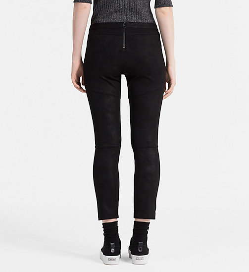 Coated Jersey Trousers - CK BLACK - CALVIN KLEIN JEANS TROUSERS - detail image 1