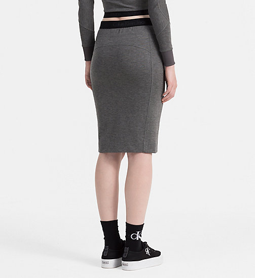 CALVIN KLEIN JEANS Jersey Tube Skirt - MID GREY HEATHER - CALVIN KLEIN JEANS SKIRTS - detail image 1