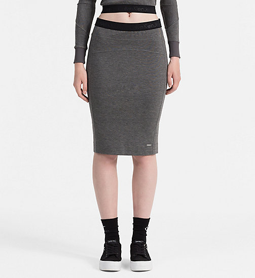 CALVIN KLEIN JEANS Jersey Tube Skirt - MID GREY HEATHER - CALVIN KLEIN JEANS SKIRTS - main image