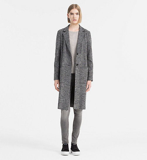 Melange Wool Coat - CK BLACK HEATHER - CALVIN KLEIN JEANS OUTERWEAR - detail image 1