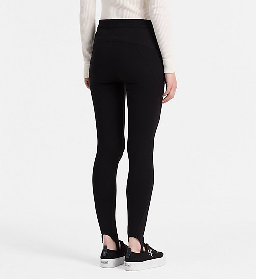 CALVIN KLEIN JEANS High Rise Stirrup Leggings - CK BLACK - CALVIN KLEIN JEANS CLOTHES - detail image 1