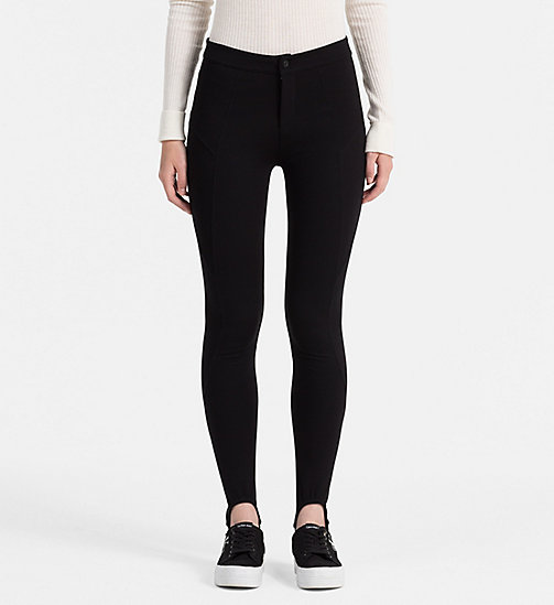 CALVIN KLEIN JEANS High Rise Stirrup Leggings - CK BLACK - CALVIN KLEIN JEANS TROUSERS - main image